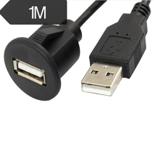 1M Car Dash Board Mount A Male To A Female  USB 2.0 Socket Extension Panel Cable цена и фото