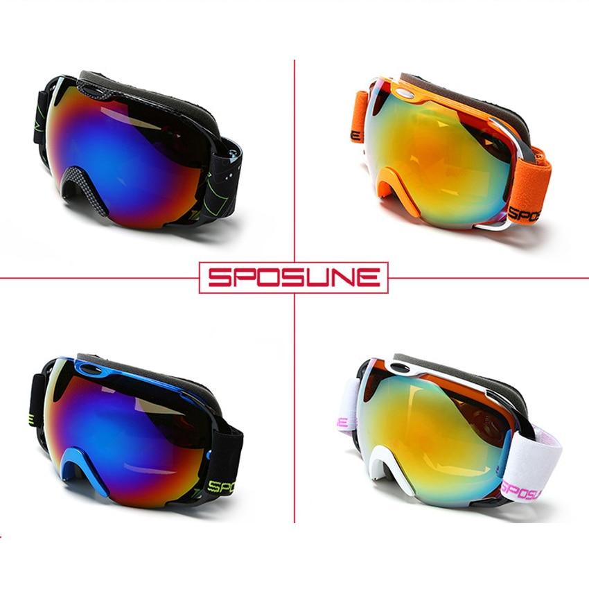 Lunettes de ski double couche UV400 professionnelles lunettes de ski anti-buée masque de snowboard anti-vent avec boîte à lunettes et sac - 3
