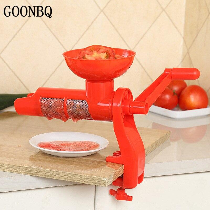 GOONBQ 1 stück Tomaten Squeezer Kunststoff Hand Manuelle Tomatensaft Pressmaschine Obst Squeezer Tomatensauce Entsafter Werkzeug