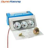 Chrome 2''52MM Triple gauge kit Voltmeter Water temp gauge Oil pressure gauge with Sensor Car Meter YC100895