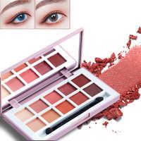 ICYCHEER Makeup Contrast Color Eyeshadow Palette 10 Colors Eye Shadow Peach Neutral Nude