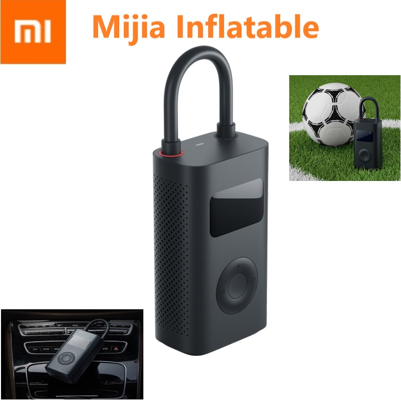Xiaomi Electric Air Pump Mijia Rechargeable inflator 150PSI Smart Digital Tire Pressure Detection for Football Car Bike Pump-in Smart Remote Control from Consumer Electronics    1