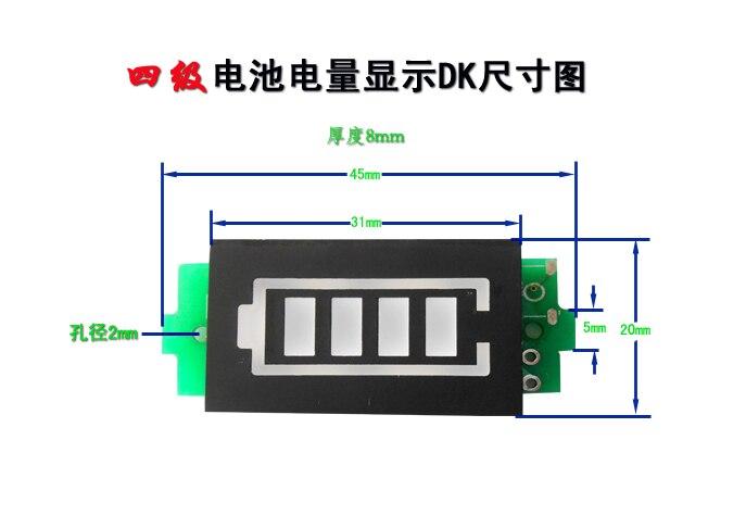 4S Enkele 16.8V Lithium Batterij Capaciteit Indicator Module Blauw Display Elektrische Voertuig Batterij Tester Li-Ion