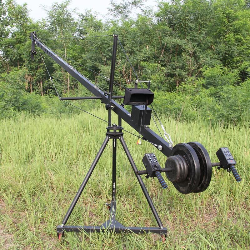 Potence professionnelle de grue de caméra de DV 3 m 6 m 19. Place ft pour la caméra vidéo filmant avec tête motorisée à 2 axes