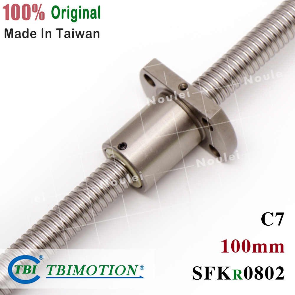 TBI 1mm Lead 0802 Ball Screw 8mm Diameter 100mm Length and SFK0802 Nut for CNC kit partsTBI 1mm Lead 0802 Ball Screw 8mm Diameter 100mm Length and SFK0802 Nut for CNC kit parts