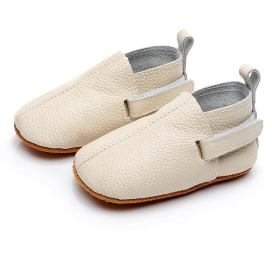 2018 fashion genuine leather baby moccasins shoes non-slip toddler girls and boys first walker casual shoes sneakers
