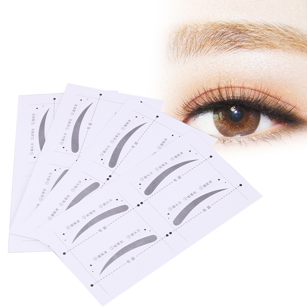 4pcs/set Reusable Eyebrow Stencils Beauty Makeup Tools Artifact Header Card Repair Brow Eyebrow Template Practical Make Up Tools ...