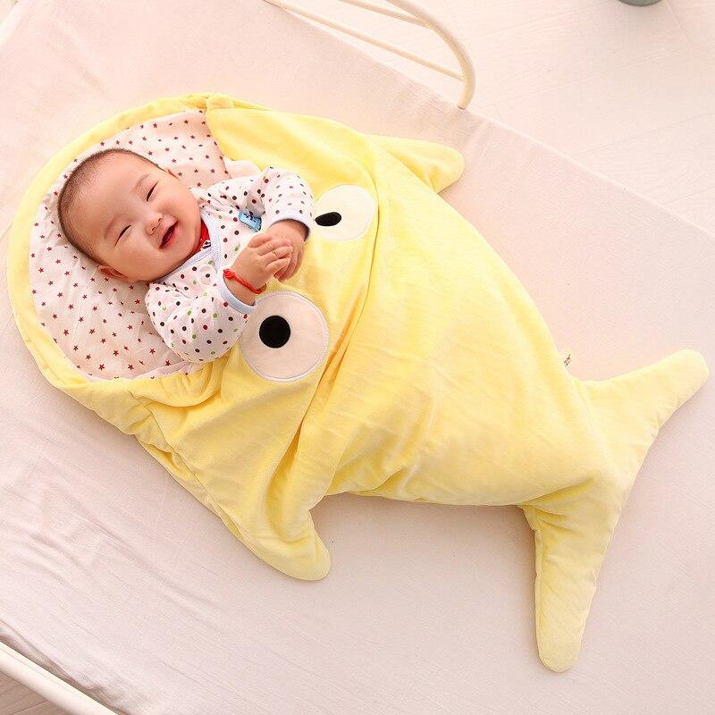 70*87cm Multi-color Cotton Envelope Shaped Safe Infant Blankets Home Decoration Baby Toys Shark Sleeping Bag Newborn Products