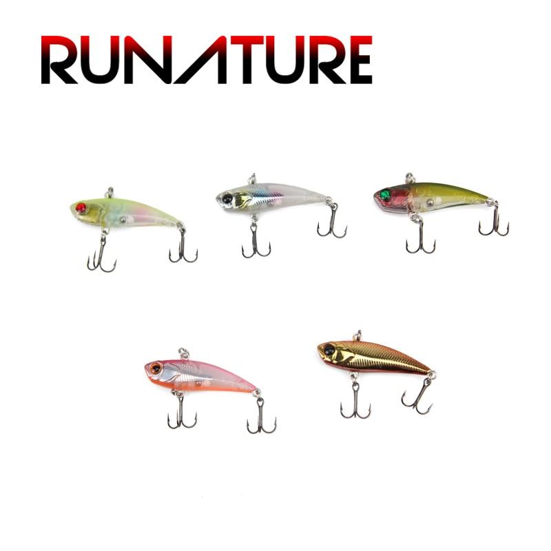 Runature Vib Crankbait Lure Hard Lure Swimbait Fishing Lures 40mm/3.5g Lifelike Baits Mini Vib Lures Fake Baits