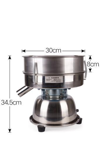 Machine de criblage de poudre électrostatique 6-600mesh Machine de criblage de poudre électrique Machine de criblage de Vibration rotative Machine de poudre de tamis - 4