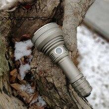Amutorch 2019 Neueste TC500 2200LM leistungsstarke Helligkeit Tragbare LED Taschenlampe doulbe schalter 1*21700 batterie taktische taschenlampe