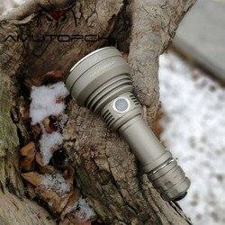 Amutorch 2019 Più Nuovo TC500 2200LM potente Luminosità Portatile HA CONDOTTO LA Torcia Elettrica doulbe interruttore 1*21700 batteria torcia tattica
