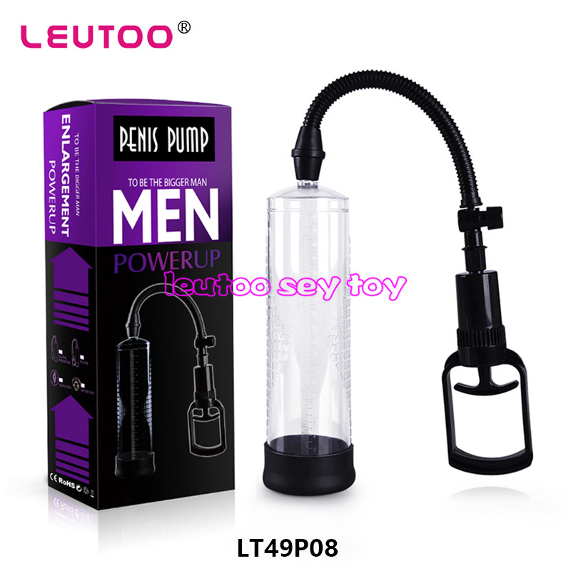 LEUTOO Sex Products Penis Enlargement Pump, Penis Enlargement Penis Extender and Enlarger, Adult Sex Toy for Men