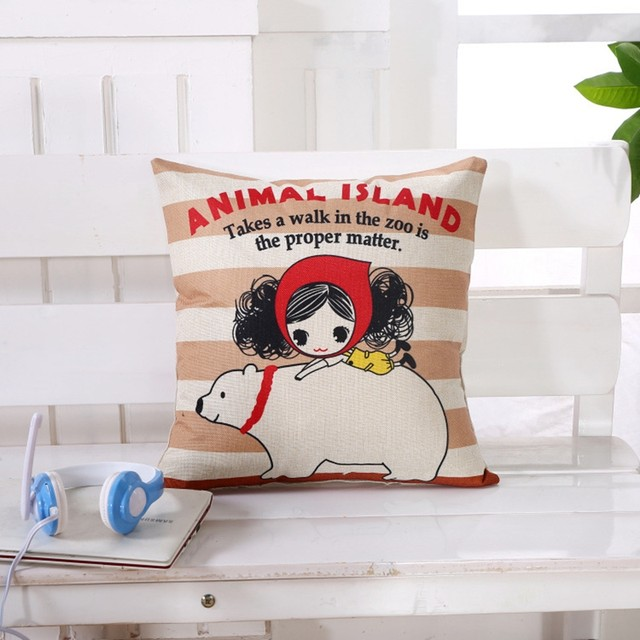 Online Shop Cute Couple Character Decorative Pillow Cover Chinese Best Cute Cheap Decorative Pillows