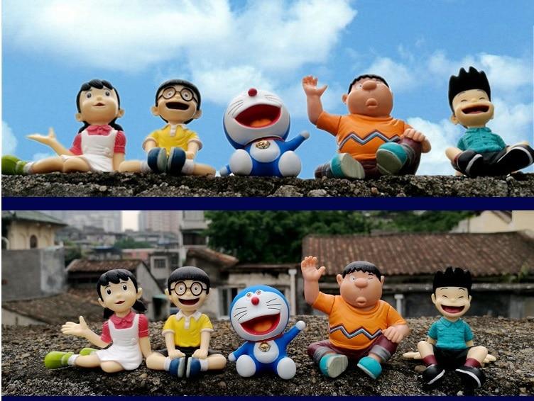 Cartone animato doraemon action figure giocattolo infanzia partner