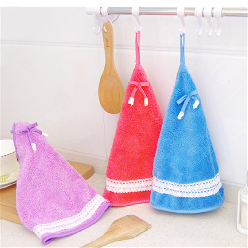 1PC Hand Towel Folds Towel For Kids Chidren Microfiber Absorbent Hand Dry Towel Kitchen Bathroom Soft Plush Dishcloths