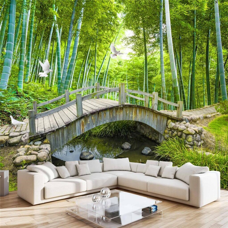 Beibehang custom photo wallpaper wall murals wall stickers for Bamboo forest wall mural