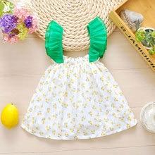 Summer Short Sleeve Baby Girl Dress Baptism Birthday Newborn Childrens Casual Wear