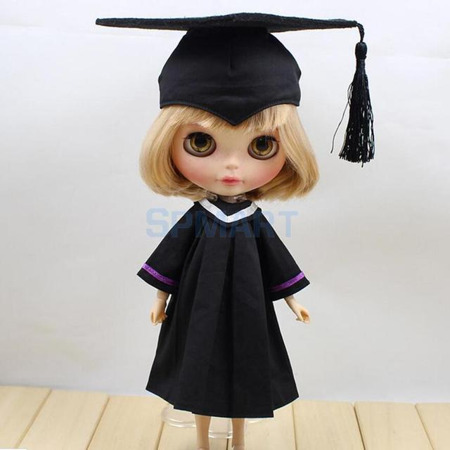 1/6 Dolls Graduation Dress Academic Gown with Trencher Cap for 12 ...