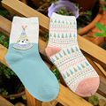 BIZHU Autumn and winter Women Socks Cotton Cute Animal Casual Knit Wool Long Harajuku Socks length Warm For Female