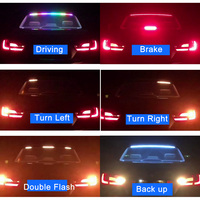180cm Car Styling RGB Undercarriage Floating Led trunk strip Light Luggage Compartment Lights Dynamic Streamer Turn Signal LED