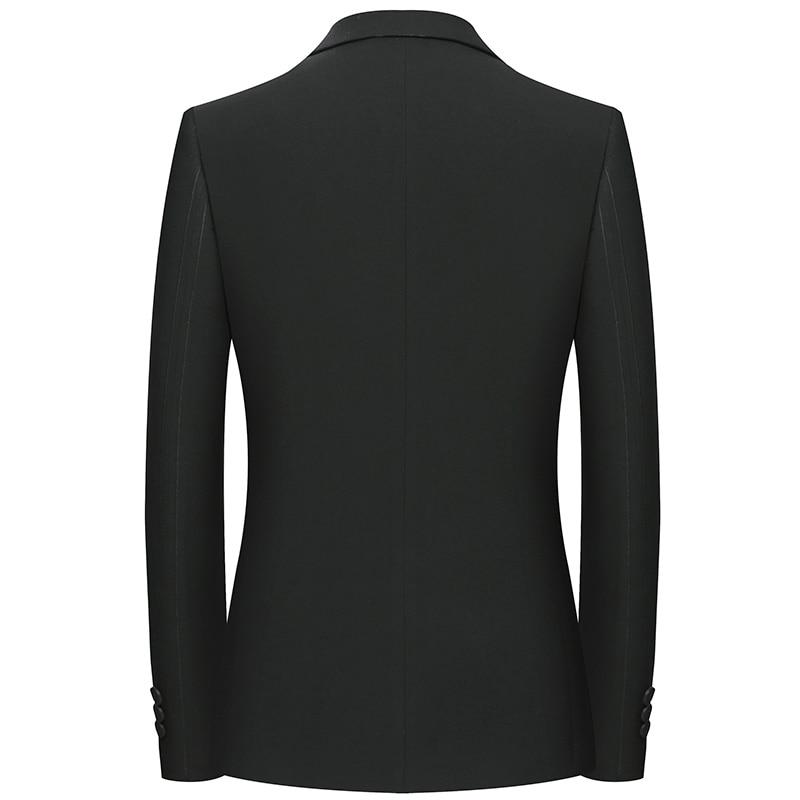JZ CHIEF Suits Jacket and Dress Fashion Men Black Blazer Basic Formal Jacket Suit Social Dress Blazer Coat Slim Fit Light Weight - 3