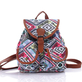 2017 Womens Canvas Backpack Ladies Printing Shoulder Bags Girls Teenagers School Bags mochila feminina Femme Sac A Dos 4 colors