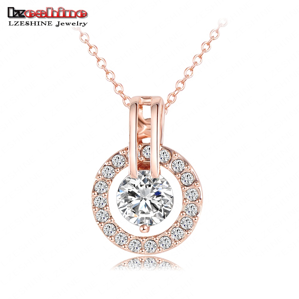 Buy pretty rose gold color circle womens for A good jewelry store