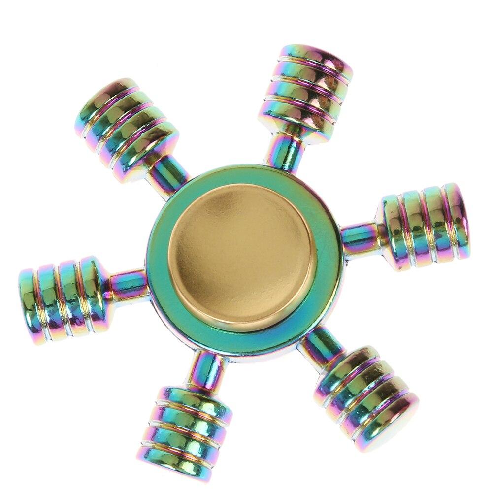 Hexagonal Hand Spinner Fidget Toy Alloy Finger Spinner for Autism ADHD Fidget Spinner Funny Anti Stress