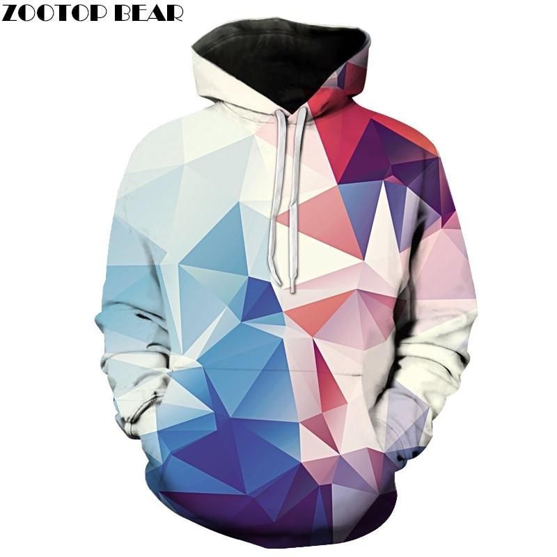 Men Women Hoodies With Hat Hoody Print Color Blocks Autumn Winter Thin 3d Sweatshirts Hooded Hood