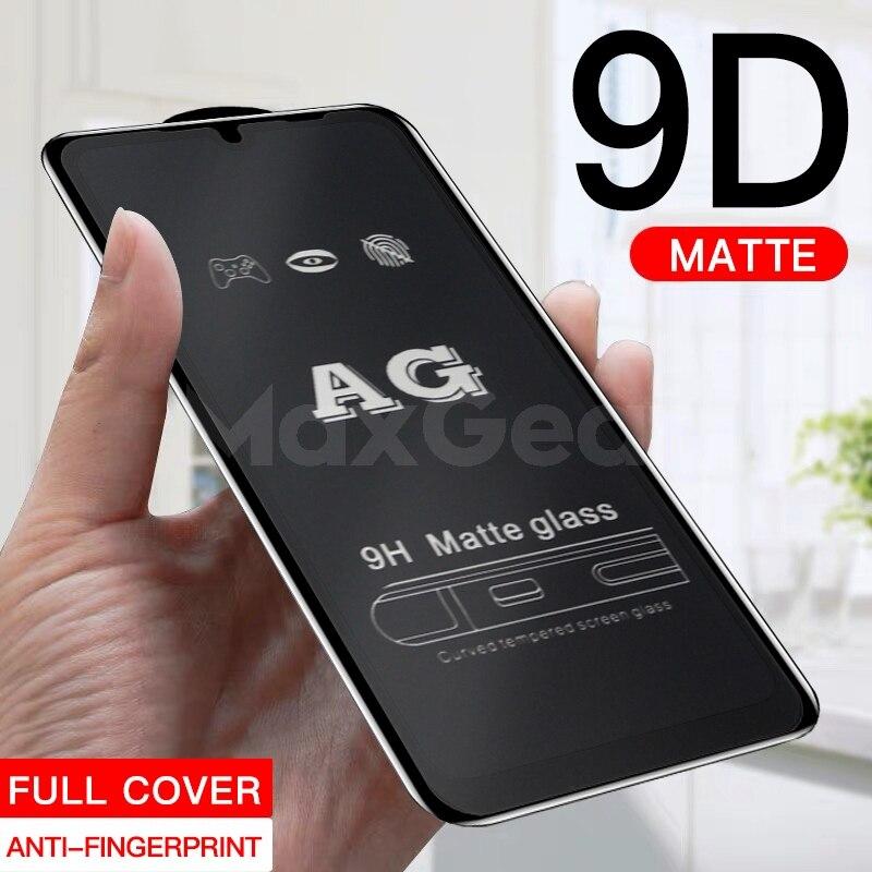 Matowy matowy 9D 9 H szkło hartowane dla Xiaomi Redmi Note 7 6 5 Pro 5A 5 Plus 6A Anti odciski palców peeling folia ochronna na ekran