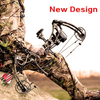 Topoint Archery Left hand bow, compound bow,With 20 70 lbs Draw Weight, black color for human outdoor hunting, Archery bow