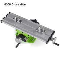 Precision Multifunction Milling Machine Bench drill Vise Fixture Worktable 200*50mm X Y axis Adjustment Coordinate Table
