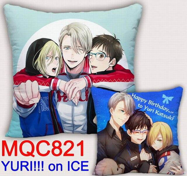 Аниме подушка двусторонняя Юрий на льду