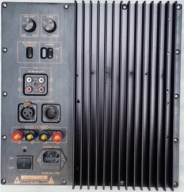 RS усилитель для сабвуфера DIY 1000 Вт активный сабвуфер усилитель платы, фильтр низких частот сабвуфера, усилитель мощности сабвуфера