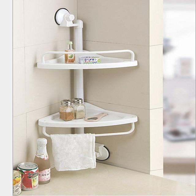Double deck Hutch Defends Corner Towel Shelf Rack Bathroom Toilet ...