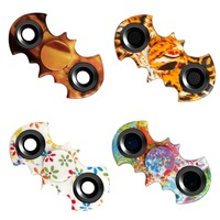 New Camo Batman Style Figit Tri Fidget Hand Spinner EDC Kids Focus Desk Toy