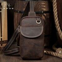 Lapoe Новый Для мужчин сумка Пояса из натуральной кожи сумка небольшая мужская сумка Винтаж Crazy Horse кожа Сумка груди