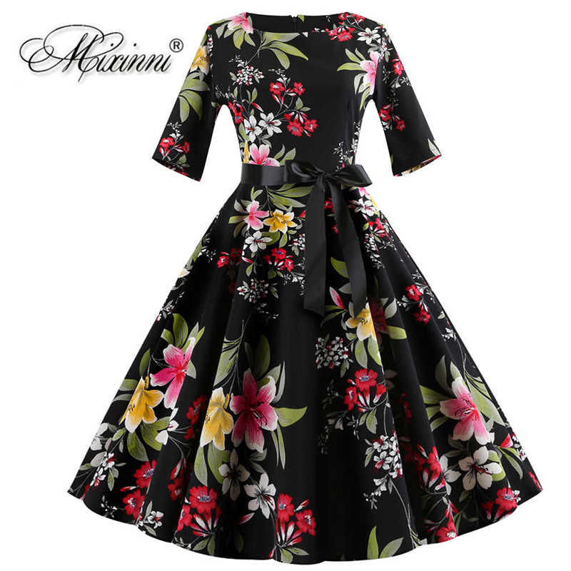 c692ff4e4653c MIXINNI Embroidery Vintage Dress Cotton Slim Vestidos Mujer Women ...