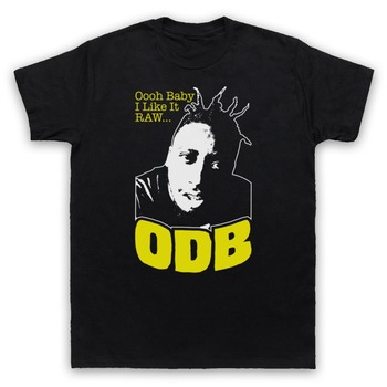 Solid Color short Sleeve Slim Fit T Shirt ODB OL' DIRTY BASTARD SHIMMY YA HIP HOP UNOFFICIAL men clothing t shirts