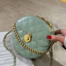 2019 High Quality PU Round Crossbody Bags For Women New Design Leather Messenger Shoulder Bag Chain Handbags Ladies Handbag