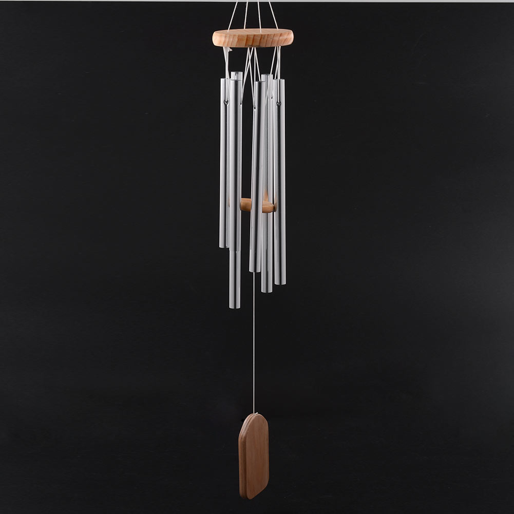 antique amazing grace deep resonant 6 tube windchime chapel bells wind chimes door wall hanging decor