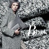 Autumn And Winter Warm Wool Fabrics Woolen Gray Intertwined Fabrics Wind Jackets Clothing Coat Fabrics