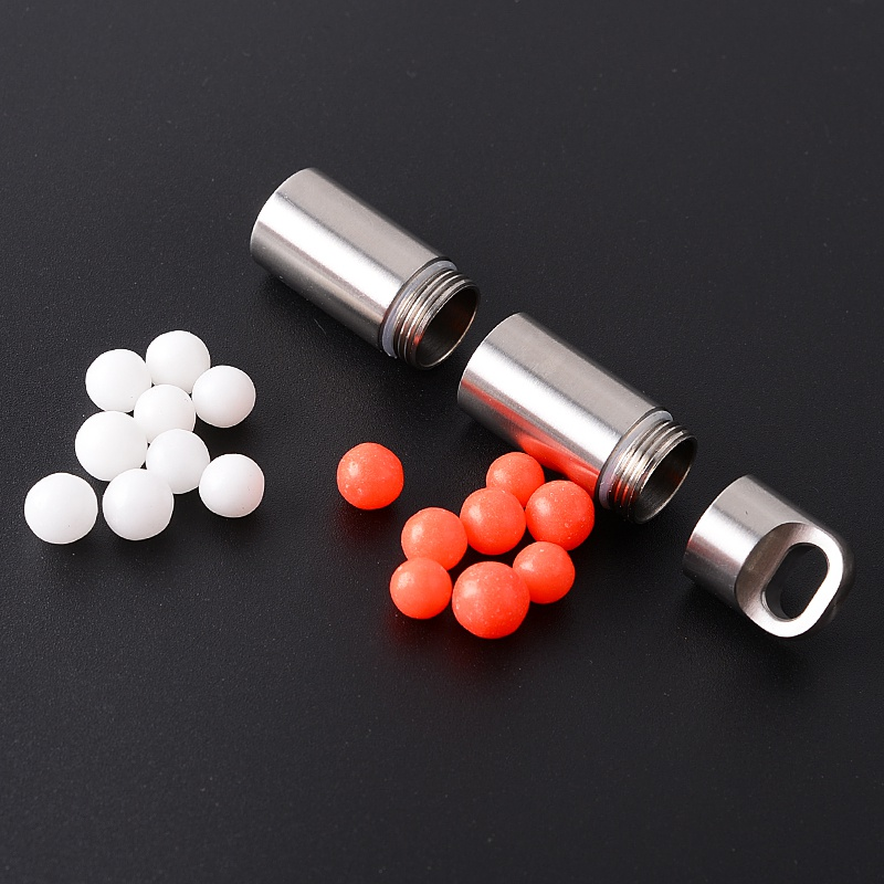 Outdoor Waterproof Stainless Steel Bottle Medicine Sealed Bottle Independent Camping Multi Combination Pill Storage Pocket Tank