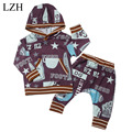LZH 2017 Spring Autumn Kids Baby Boys Clothes Printed Hoodie + Pants Outfit Suit Newborns Baby Clothes Set Infant Boys Clothing