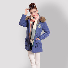 Winter Jacket Women coat Parka Manteau Femme Mujer Army Large Autumn ukraine Fur Collar Hoodies Long Section Zipper Plus Size