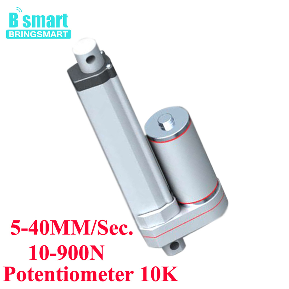 Stroke 50MM DC Linear Actuator 12V-48V Speed 5-40MM/Sec.Load 1-90KG With Potentiometer 10K Electric Motor For Medical Equipment spanish two tone double potentiometer 10k 50k