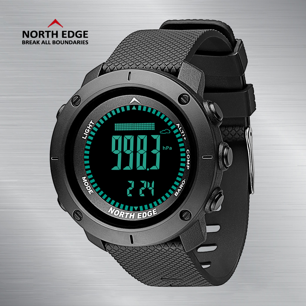 Smart Watches NorthEdge Digital Wristwatches LED Bracelet Clocks Altimeter Waterproof Watch Sport Intelligent electronics Watch