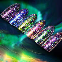 Bozlin Glitter Prego Brilhante UV Esmaltes em Gel Soak Off Unhas Arte Aurora Camaleão Gel Fácil Soak Off UV Ou LED vernizes de Unhas de Gel Arte