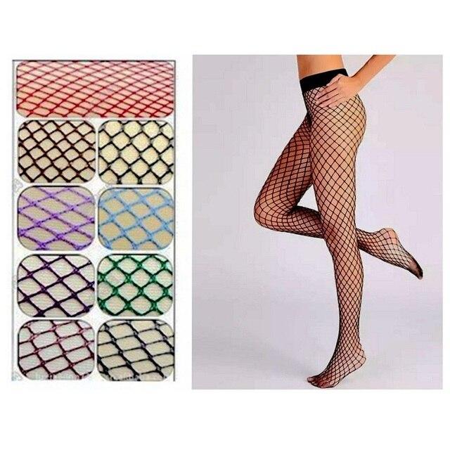 2c83438b3 Sexy Malha Fishnet Pantyhose Das Mulheres New Calças Justas Magro Meias  Arrastão Meia-calça Em